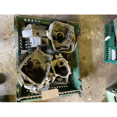 8 - Assorted Velocette spares: Various gearbox shells