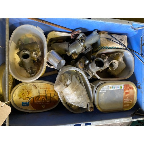 9 - Assorted Velocette spares: Carburettors and parts