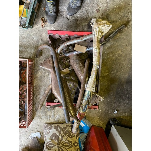 14 - Assorted Velocette spares: Exhaust pipes and silencers