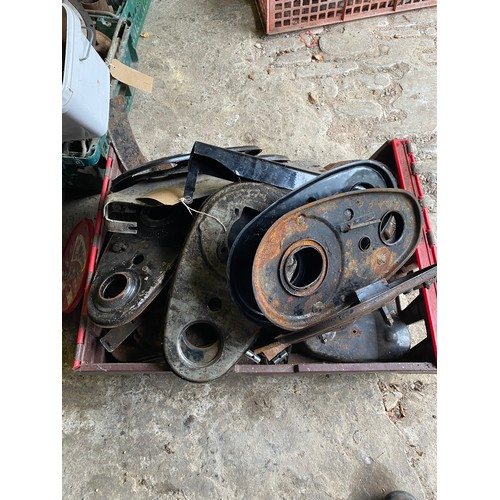 23 - Assorted Velocette spares: Various timing chain covers etc