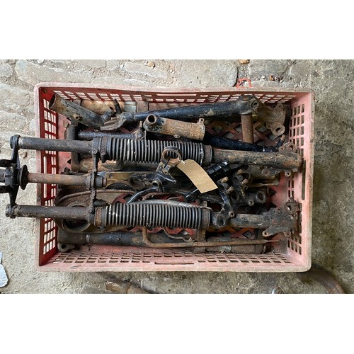 27 - Assorted Velocette spares: Forks, yokes etc