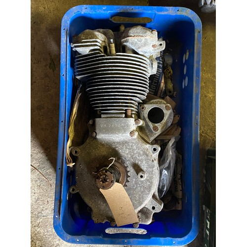 25 - Assorted Velocette spares: Venom engine