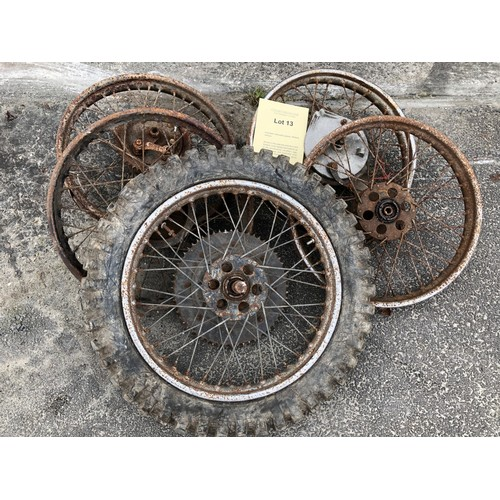 13 - Assorted Velocette spares: Wheels various