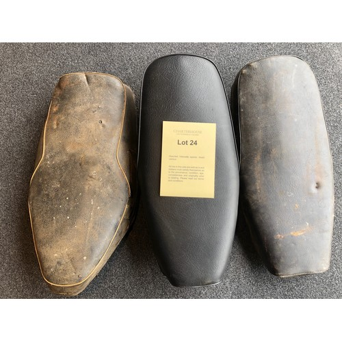 24 - Assorted Velocette spares: Seats various