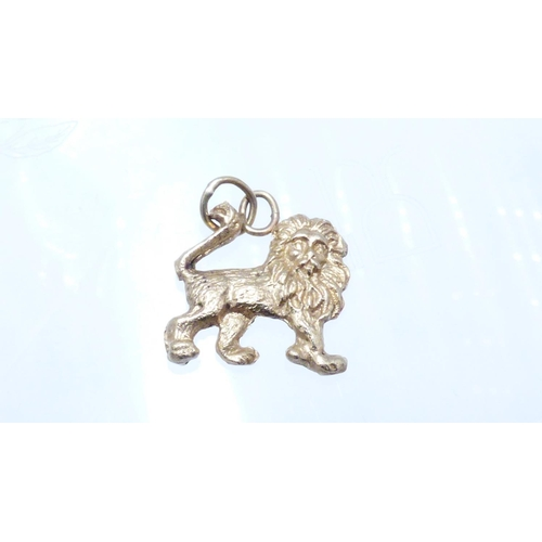 29 - Gold 375 Lion Pendant with Presentation Box...