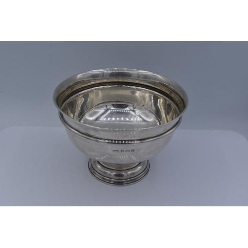 47 - Hallmarked Birmingham Silver Chalice 12cm Diameter 8.5cm High 103.5 grams...