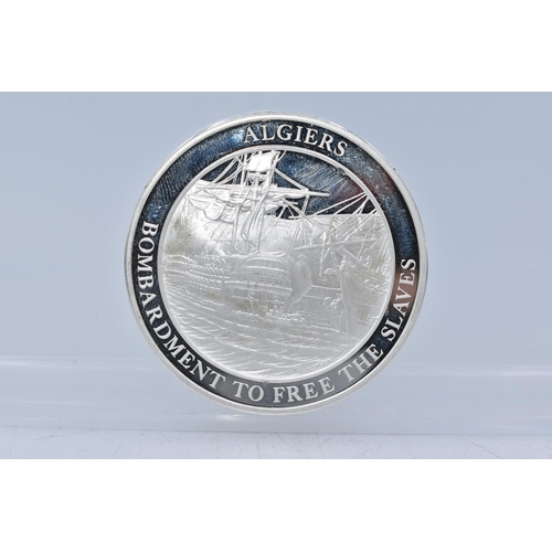 49 - Silver Medal From The Mountbatten Medallic History of Great Britain and the Sea (Algiers Bombardment...