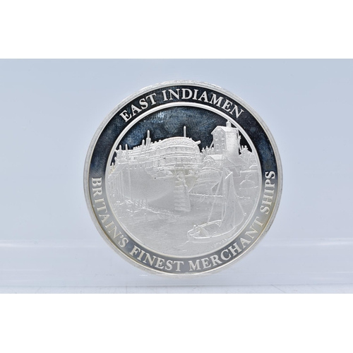 50 - Silver Medal From The Mountbatten Medallic History of Great Britain and The Sea (East Indianmen Brit...