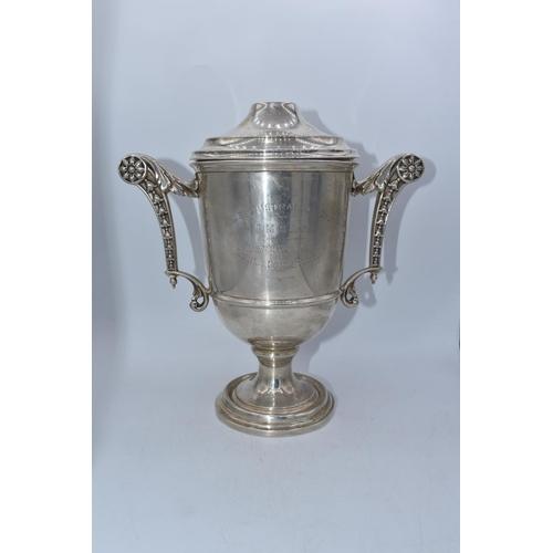 51 - Elkington Silver Hallmarked Birmingham Trophy with Lid (596.5g)...