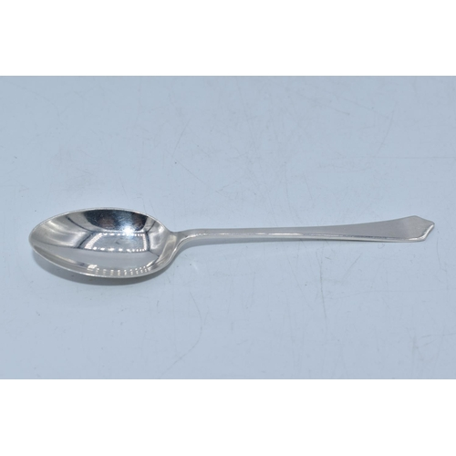 55 - Hallmarked Edinburgh Silver Spoon Dating From 1955. 9.4cm long...