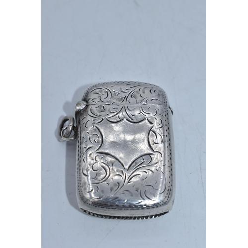 57 - Hallmarked Birmingham Silver Vesta Case Dating From 1902...