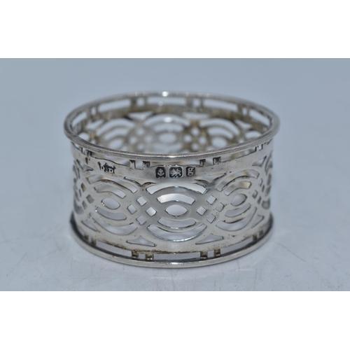 58 - Hallmarked Birmingham Silver Napkin Ring Dating From 1906 Weighing 10.3 grams...