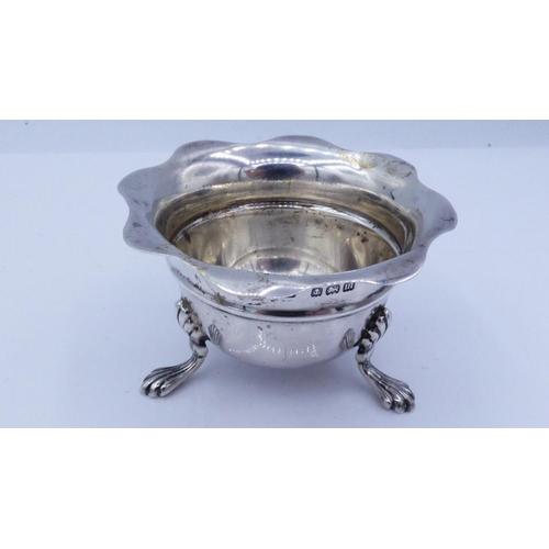 7 - Hallmarked Birmingham Silver Salt Dating From 1911 Weighing 30.2 grams...
