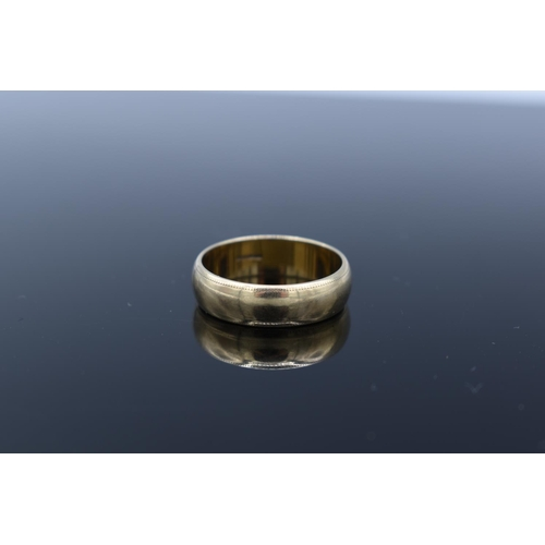 16 - Hallmarked 375 Gold Band Ring (Size R) Complete with Presentation Box (Weight 4.8grams)...