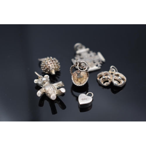 42 - Selection of 5 Silver 925 Charm Pendants with Presentation Box...