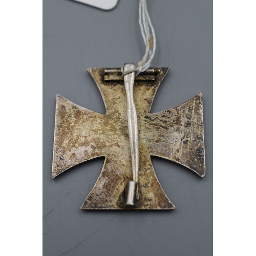 11 - Iron Cross 1st Class with Brooch Pin Fitting...