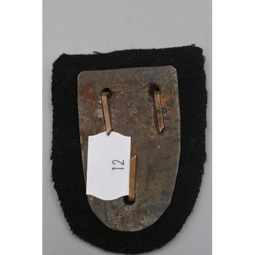 12 - Third Reich Cholm Sleeve Shield (Field Made)...