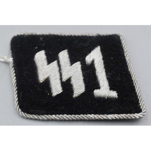 18 - Third Reich SS Officers Collar Tab SS-Standarte 1/VT - Deutschland...