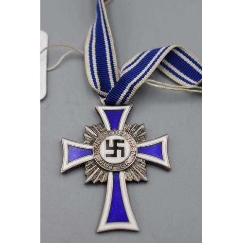 4 - Third Reich Cross of Honour for The German Mother Issued from the 16th December 1938 (Silver)...