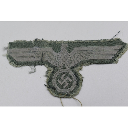 24 - Third Reich Uniform Removed M43 Army Breast Eagle in BEVO Weave...