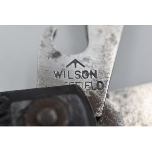 26 - British Army Clasp Knife marked Wilson Sheffield...