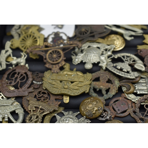 30 - Large Quantity of British Military Cap and Other Badge's, Various Conditions some Ground Dug...