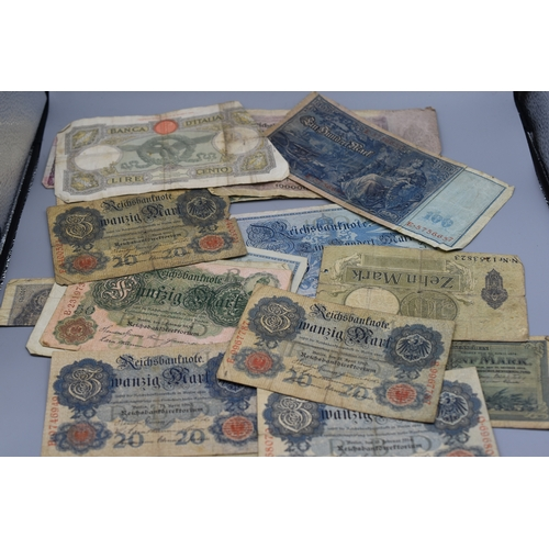 37 - Approx 30 early 20th Century Bank Notes including 19 Imperial Germany (dating 1904 to mid 1920s)...