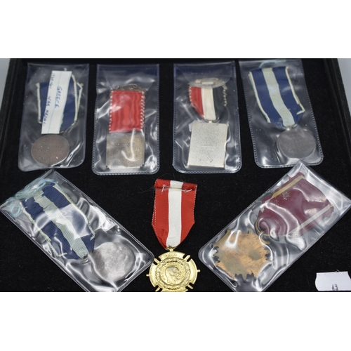 43 - Seven Assorted Medal's including Greek War Medal 1940-41, Polish Cross of Merit, and Austro Hungaria...