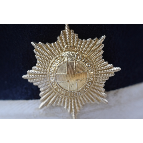 54 - Coldstream Guards NCO's Visor Hat with Staybright Badge...