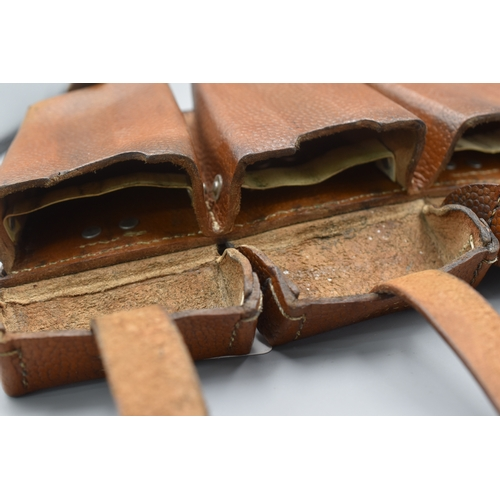 56 - Pair of Third Reich K98 Leather Ammo Pouches dated 1940...