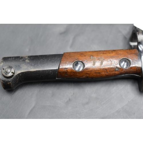 58 - British 1907 Pattern Bayonet in Steel Painted Scabbard...