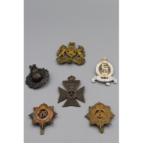 114 - Six British Military Cap badges...