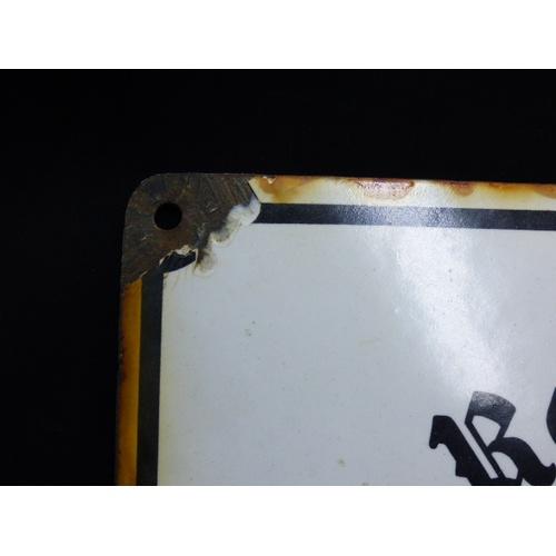 1 - Third Reich Enamel Sign for Reichsnahrstand, Nazi Food Production Organisation. (35cm x 40cm)...