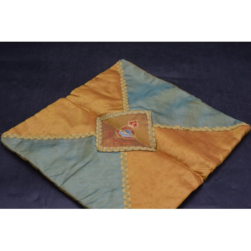 75 - WWI RAF Embroidered Fabric Cushion Cover...