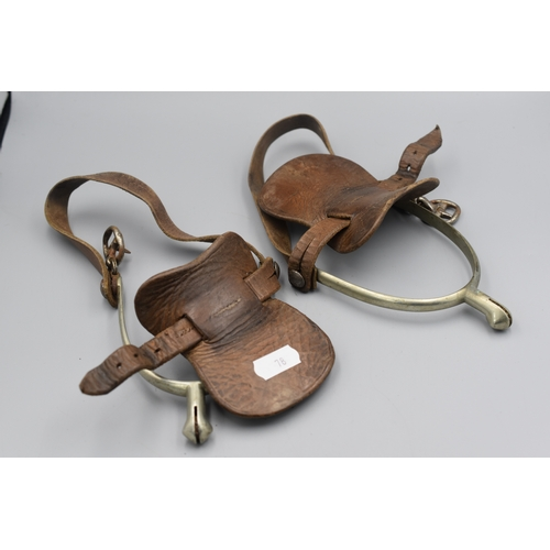 78 - Pair of WWI Army Officers Field Boot Spurs Both Made by Maxwell. 80 Dover Street, London...