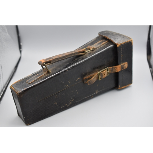 81 - Pre WWII British Army Bandsman's Leather Instrument Case marked