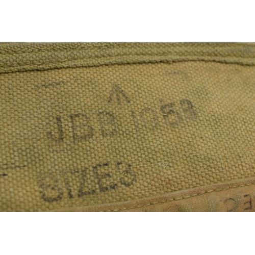 82 - British Army Khaki Webbing Uniform Gaitors. Size 3...