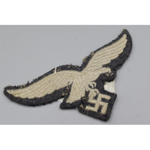 169 - WWII German Luftwaffe Embroidered Uniform Pilots Badge...