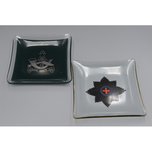 175 - Two Officers Mess Ashtrays (Gurkha Regiment and Guards Regiment)...