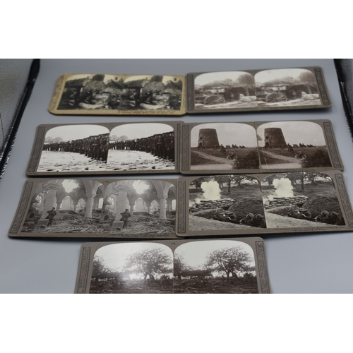 Seven Different WWI Stereoscope Photographs