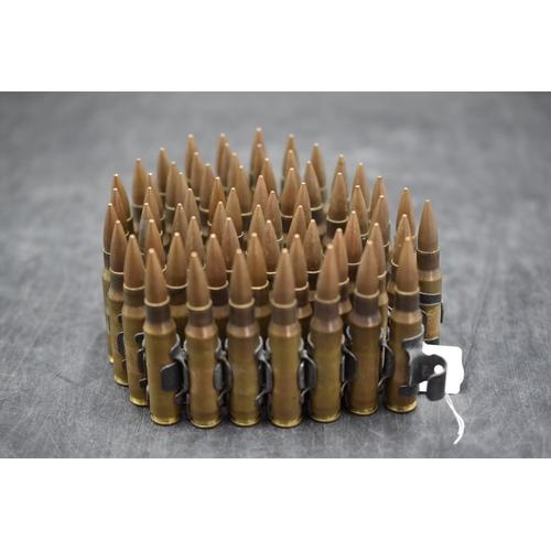 202 - Inert Machine Gun Bullet Belt (97cm Long)...
