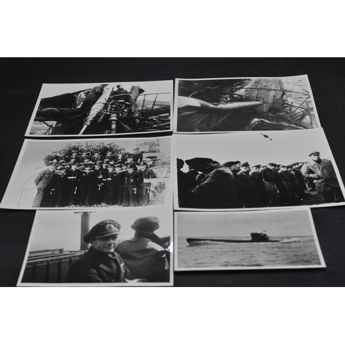 227 - Six Large Photographs Relating to U Boat U293 and Crew...