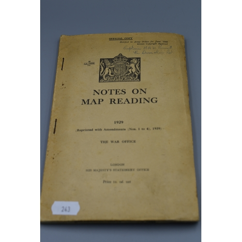 243 - British War Office Notes on Map Reading 1929...