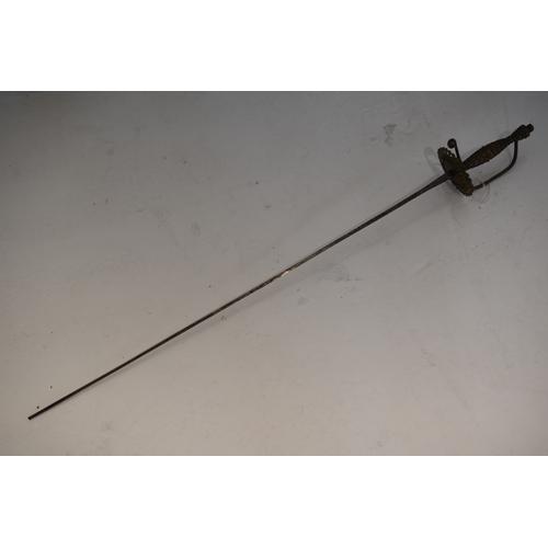 261 - Vintage sword with a metal hilt. (93cm long)...