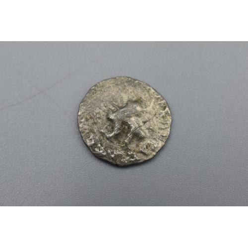 King Azes II Silver Drachma Northern India (35 BC-10 AD)