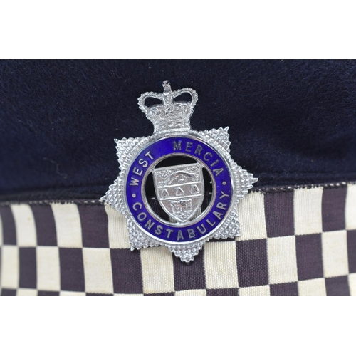 2 - West Mercia Police Inspectors Service Cap made by J Compton Sons & Webb London with Badge...