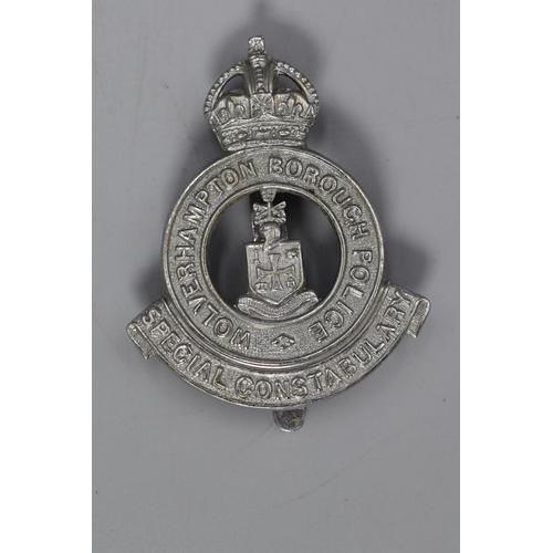 22 - Wolverhampton Borough Police Special Constabulary Kings Crown Cap Badge...