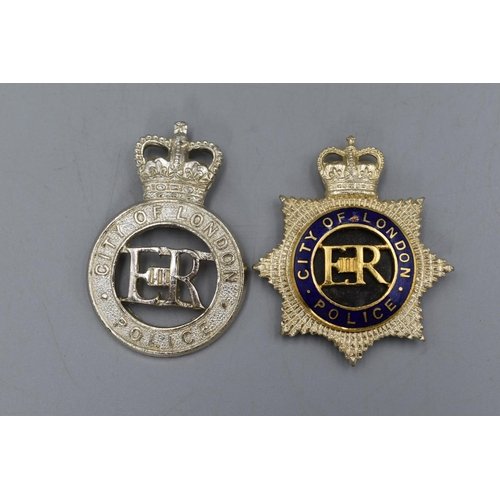 25 - City of London Police Inspectors plus a Lower Ranks Cap Badge...