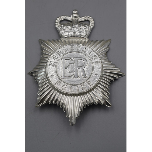42 - Two Police Helmet Plates, Greater Manchester and Merseyside...