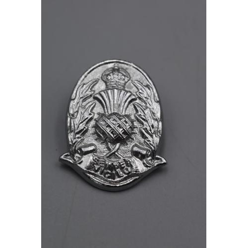 45 - Three Scottish Police Cap Badges...